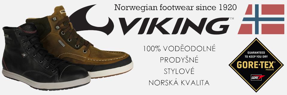 Novinka – norská voděodolné obuv Viking s GORE-TEX membránou